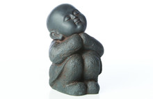 Alfresco Home Humming Buddha - Black Rust