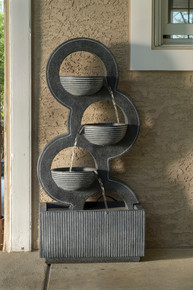 Alfresco Home Forgiveness Resin Fountain w/ LED Light & Pump