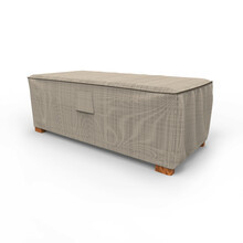 Budge Industries English Garden Slim Patio Ottoman/Coffee Table Cover - Large