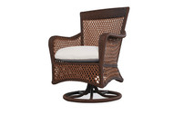 Replacement Cushions for Lloyd Flanders Grand Traverse Wicker Swivel Dining Armchair