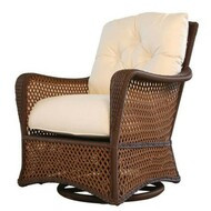 Replacement Cushions for Lloyd Flanders Grand Traverse Wicker Swivel Glider Lounge Chair