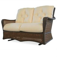 Replacement Cushions for Lloyd Flanders Grand Traverse Wicker Glider Loveseat