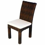Replacement Cushions for Lloyd Flanders Contempo Wicker Armless Dining Chair
