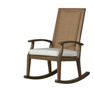 Replacement Cushions for Lloyd Flanders Wildwood Teak High Back Porch Rocker
