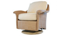 Replacement Cushions for Lloyd Flanders Oxford Wicker Swivel Glider Lounge Chair