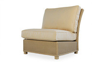 Replacement Cushions for Lloyd Flanders Hamptons Wicker Armless Sectional Chair