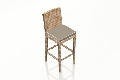 """Forever Patio Hampton Wicker 30"""" Armless Bar Stool Biscuit"""