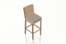 "Forever Patio Hampton Wicker 30"" Armless Bar Stool Biscuit"