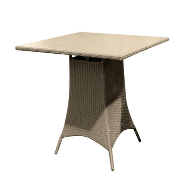 Forever Patio Hampton Wicker Counter Height 36 Inch Square Pub Table Biscuit