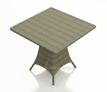 Forever Patio Hampton Wicker Counter Height 36 Inch Square Pub Table Heather