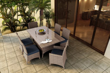 Forever Patio Hampton 7 Piece Wicker Dining Set With Side & Arm Chairs by NorthCape Intl
