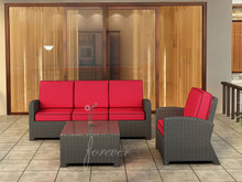 Forever Patio Barbados Resin Wicker 3 Piece Sofa Set