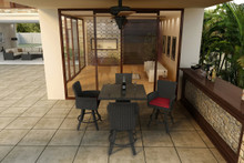 "Forever Patio 5 Piece Barbados 36"" Square Pub Table Set"