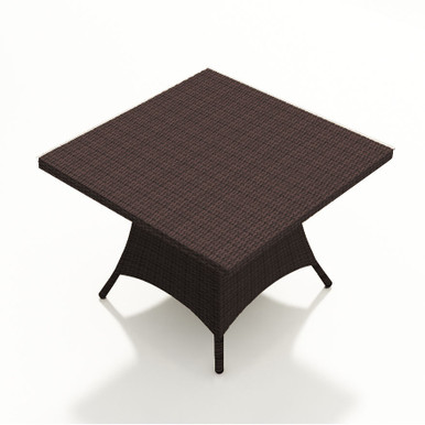 """Forever Patio Barbados 48"""" Square Wicker Dining Table Ebony"""