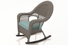 Forever Patio Catalina Wicker High Back Rocker Heather Sunbrella Canvas Spa