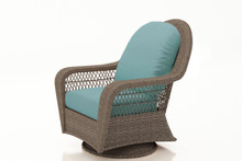 Forever Patio Catalina Wicker High Back Swivel Glider Lounge Chair Heather Sunbrella Canvas Spa
