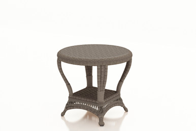 Forever Patio Catalina Wicker End Table Heather