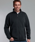 Thick mid layer fleece jacket full zip men