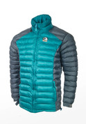 Himalayan Warm Full Sleeves Silicon Fibre Synthetic Puffy Jacket Turquoise