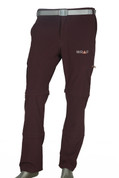 Convertible Detachable Trekking Hiking Outdoor Pants Maroon with belt