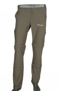 Convertible Detachable Trekking Hiking Outdoor Pants Olive Green with belt