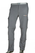 Convertible Detachable Trekking Hiking Outdoor Pants Grey with belt