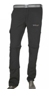 Convertible Detachable Trekking Hiking Outdoor Pants Black with belt