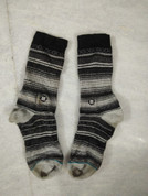 Stance Trekking and Hiking Socks Grey with black lines