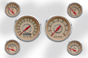 6 Gauge Set Beige/ Red