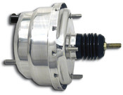 Universal Dual Power Brake Booster- Chrome