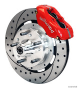 "12"" Wilwood Front Brake Kit for S-10 Spindles w/ Drilled Rotors & Red Calipers 140-12297-DR"
