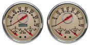 3 N 1 QUAD GAUGE SET BEIGE / RED