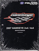 Polaris New OEM Hawkeye 2x4 / 4x4 Service Manual 2007, 9920795