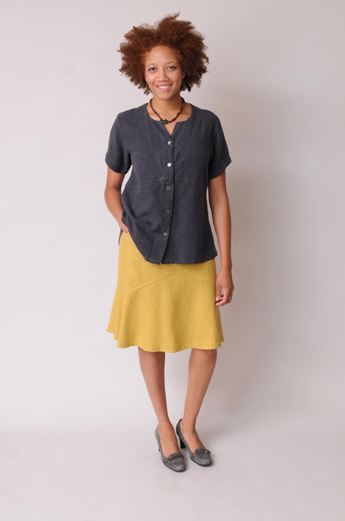 Hemp - Tencel Knee-Length skirt