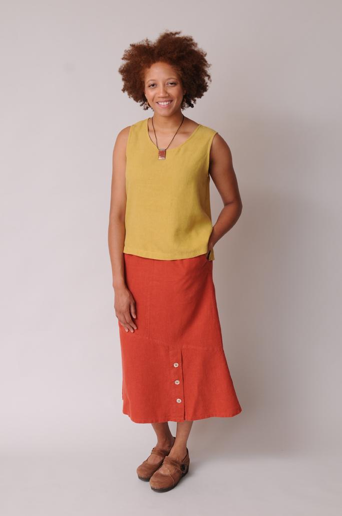 Hemp - Tencel Tank Top and long skirt