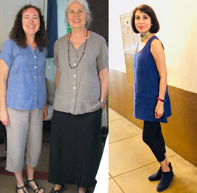 Women wearing eco friendly fashion brand, Sympatico Clothing