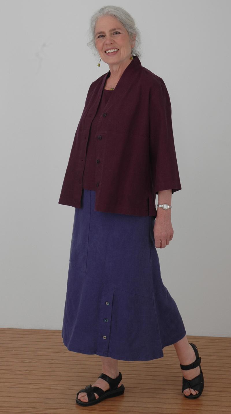 women's hemp - Tencel eco friendly top, tank and skirt