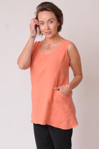 Peach hemp-Tencel top