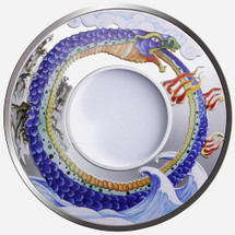 2013 Year of the Snake - Snake Infinity 1oz Silver Ring-Shaped Coloured Proof Tokelau Coin - Obverse