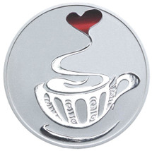 Coffee 1oz Silver Coloured Proof Tokelau Coin - Reverse