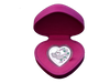 Messages of Love - 2014 Love Unites 29g Silver Heart-Shaped Coloured Proof Tokelau Coin in red heart-shaped case