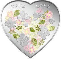 2012 True Love 20g Silver Coloured Proof Tokelau Coin