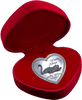 Messages of Love - 2013 Yours Always Swan Heart 20g Silver Heart-Shaped Coloured Proof Cook Islands Coin in red heart-shaped case