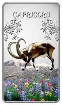 Zodiac Series - 2014 Animal Zodiac Capricorn 20g Silver Rectangular Coloured Proof Cook Islands Coin - Reverse