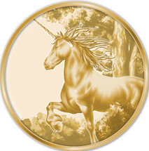 Creatures of Myth & Legend 0.5g Gold Unicorn Tokelau Proof Coin
