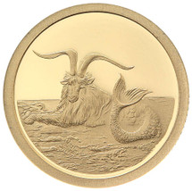 2015 Creatures of Myth & Legend - Capricornus 0.5g Gold Proof Tokelau Coin by Treasures of Oz