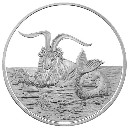 2015 Creatures of Myth & Legend - Capricornus 1oz Silver Proof Tokelau Coin by Treasures of Oz