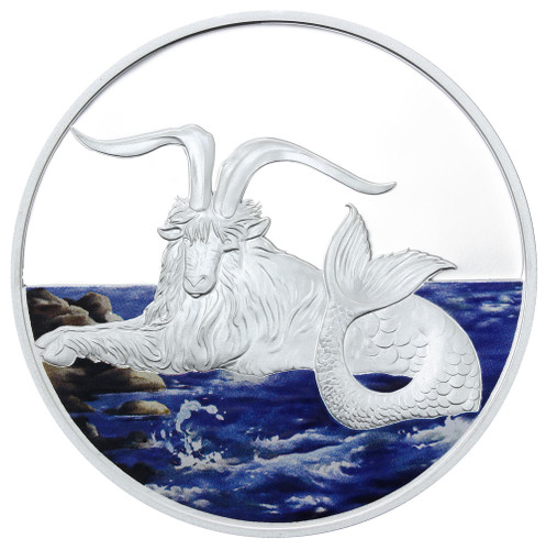 2015 Creatures of Myth & Legend - Capricornus 1oz Silver Coloured Proof Tokelau Coin by Treasures of Oz