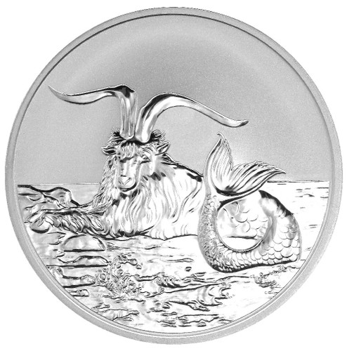 2015 Creatures of Myth & Legend - Capricornus 1oz Silver Reverse Proof Tokelau Coin by Treasures of Oz