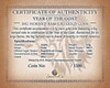 Big Horned Ram Certificate